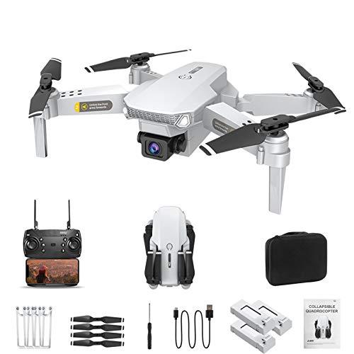 QUANXI Drone pieghevole HJ-15 con videocamera HD 4K, velocit di volo a 3 livelli, trasmissione live FPV, tempo di volo lungo, grandangolo WiFi 120 , modalit senza testa per principianti