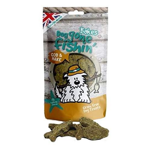 Mr Johnsons Dog Gone Fishin Snack al Forno al Nasello e Merluzzo per Cani (75g) (Multicolore)