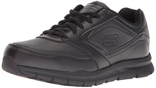 Skechers for Work Women's Nampa-Wyola Food Service Shoe, black polyurethane, 7.5 M US