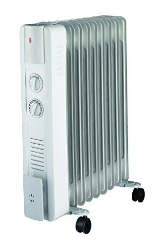 Ypsos 811500 Radiateur à bain d'huile 1500 W avec Thermostat mécanique Gris Clair