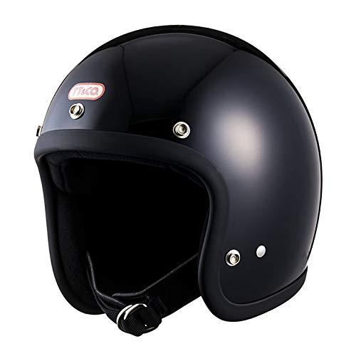 TT&CO. スーパーマグナム スモールジェットヘルメット ブラック 乗車用 SG/PSC/DOT規格品 ジェットヘルメット