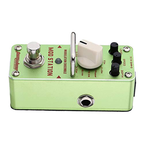 kesoto Real Modulation Station Green Guitar Effect Pedal For Electric Guitar Parts