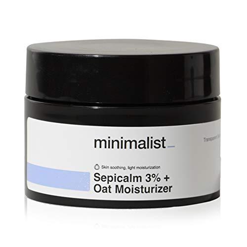 Minimalist 3% Sepicalm + Oats Moisturizer for Face | Lightweight Moisturizer For Oily, Acne Prone...