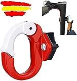 Emove Kit de Montaje de Gancho de Metal con Gancho de Garra Delantero para Gancho de Aluminio para Scooter eléctrico Xiaomi Mijia M365 / M365pro (Rojo)