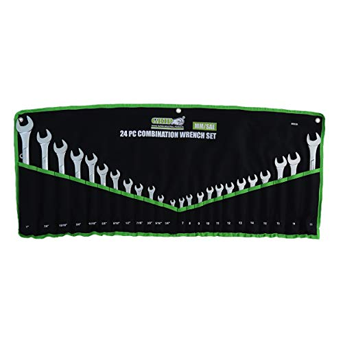 Grip 24 pc Combination Wrench Set MM/SAE