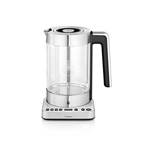 WMF Lono 2 in 1 Vario Wasserkocher, mit Temperatureinstellung, 1,4- 1,7 l, 3000 W, Teekocher Glas mit Teesieb, Warmhaltefunktion