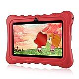 Ainol Tablette Enfant, Q88 - Android 7.1 7', 1Go RAM 8Go ROM,Poids Léger Portable, Kid-Proof, Silicone Housse de Béquille, Disponible avec iWawa pour Les Enfants Éducation Divertissement - Rouge
