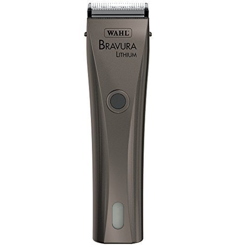 Wahl Professional Animal Bravura Pet, Dog, Cat, and Horse Corded / Cordless Clipper Kit, Gunmetal (#41870-0425)