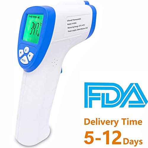 Infrared Forehead Thermometer - Infrared Thermometer Gun- Infrared Thermometer for Baby, Forehead Thermometer Adult Non-Contact Digital Thermometer with Fever Alert Function,6 in 1 Digital (NO.2)