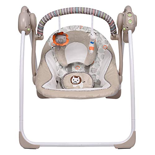VASTFAFA Elektrische Babyschaukel&Babywippe mit Moskitonetze 16 Melodien und 6 Schaukelgeschwindigkeiten …
