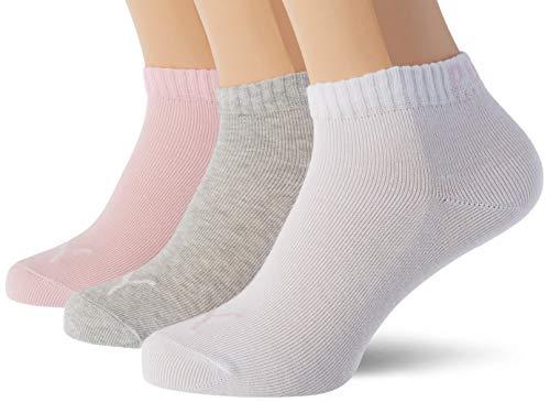 PUMA Kids' Quarter Socks (3 Pack) Calze, Acqua di Rose, 31-34 (Pacco da 3) Unisex-Bambini