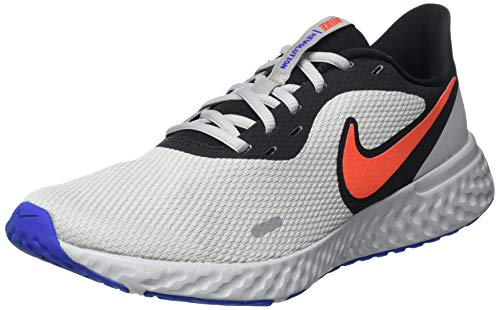 Nike Revolution 5, Running Shoe Hombre, Black/Chile Red-Light Smoke Grey, 40 EU