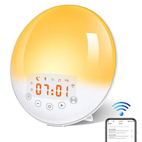 KYG Wake Up Light Despertador Luz, Despertador Simulación de...