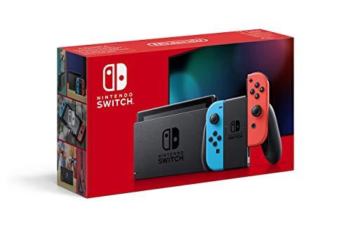 Nintendo Switch - Consola Estándar, Color Azul Neón/Rojo Neón...