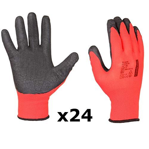 Blade - Solidi guanti da lavoro e montaggio, antiscivolo, rivestimento in lattice, giardino,...
