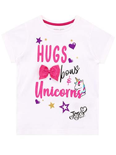 JoJo Siwa Camiseta de Manga Corta para niñas Unicornio 6-7 Años