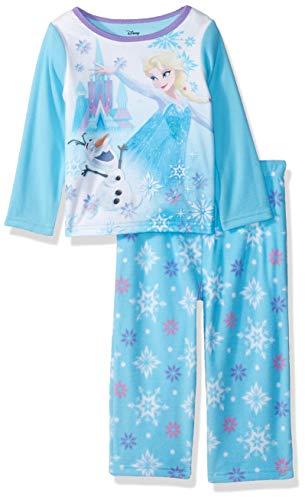 Disney Girls' Toddler Elsa 2-Piece Fleece Pajama Set, Frozen - ICY Olaf