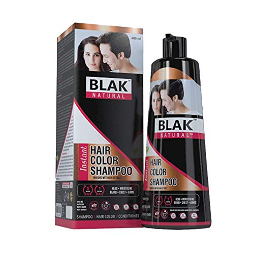 Black Natural Instant Hair Color Shampoo, 400ml   3 in 1 Instant Black Hair in Just 5 Minutes   For Both Men & Women   No Ammonia, No Paraben (Pack Of 1)