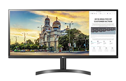 LG 34WL50S Monitor 34' UltraWide 21:9 LED IPS HDR, 2560 x 1080, Radeon FreeSync 75 Hz, Audio Stereo 10 W, 2x HDMI, Uscita Audio, Flicker Safe, Nero