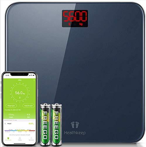 Báscula de Baño Báscula Inteligente Bluetooth Báscula Digital con...