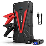 BUTURE Car Jump Starter, 800A Peak 12800mAh Portable Car Battery Starter (up to 6.0L Gas/5.0L Diesel Engines) Auto Battery Booster Pack with Smart Safety Jumper Cable, QC3.0 USB Outputs