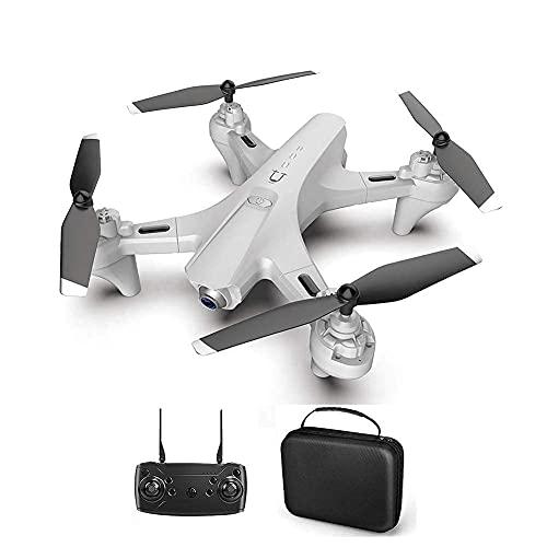 Drone, drone GPS pieghevole con fotocamera UHD 4K per adulti, doppia fotocamera, quadricottero con 110Grandangolo, controllo del sensore di gravit, compatibile con VR, con 2 batterie, custodia