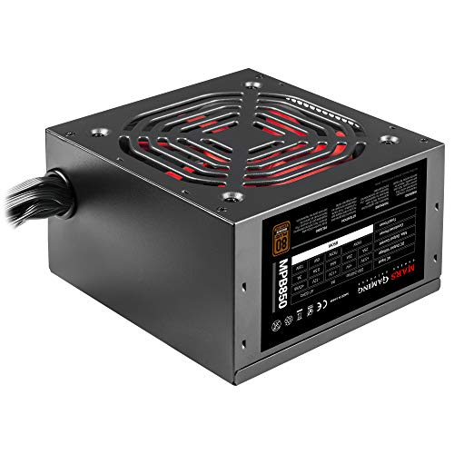 Mars Gaming MPB850, Alimentatore per PC 850W, 80Plus Bronze 230V, Silenzioso