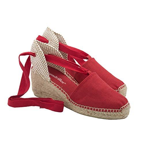 2 Espadrilles - Alpargatas Fabricadas a Mano en España Espadrilles Esparto Zapato para Mujer Tacón Beatriz