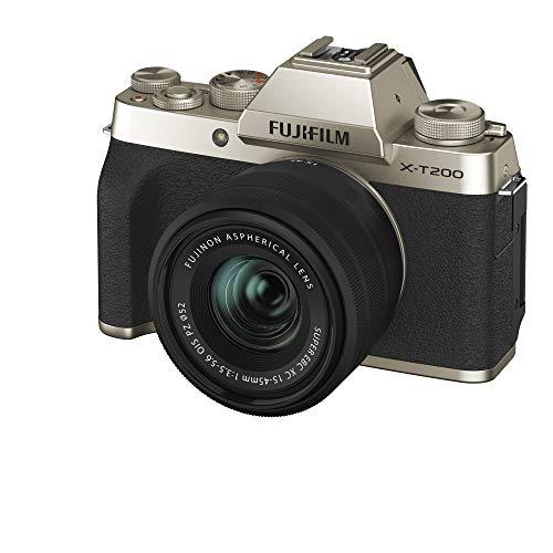 FUJIFILM ミラーレス一眼カメラ X-T200レンズキット シャンパンゴールド X-T200LK-G