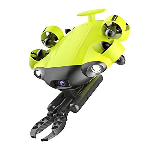 AHELT-J Drone Subacqueo con Telecamera 4K UHD, Linea 100m con Avvolgicavo. (Contiene Braccio Robot e Cassetta degli Attrezzi.)