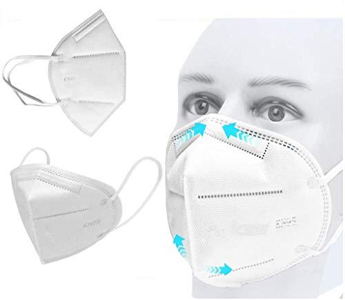 Decdeal- 10pcs Protezione del Viso in Meltblown Tessuto Non Tessuto,Prevenzione Polvere e Smog,Filtrazione a 4 Strati