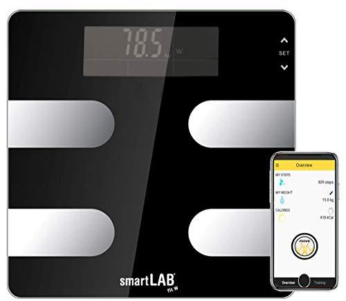 smartLAB fit W Bluetooth/ANT+ Körperanalyse-Waage Digital für Android, IOS und S Health