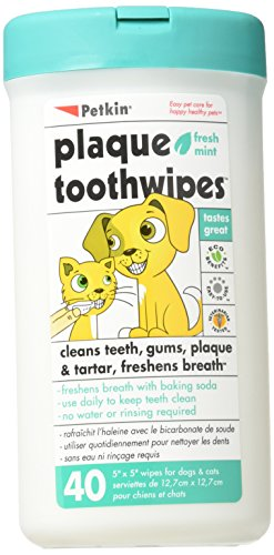 Petkin Tooth-wipes Tooth and Gum Cleanser