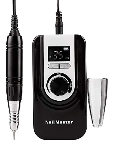 Professional Rechargeable Nail Drill Machine,Lumcrissy Electric Nail Drill,Rechargeable Nail Drill Kit, Electric E File Scamander with Long Life Battery,High Speed, Low Heat