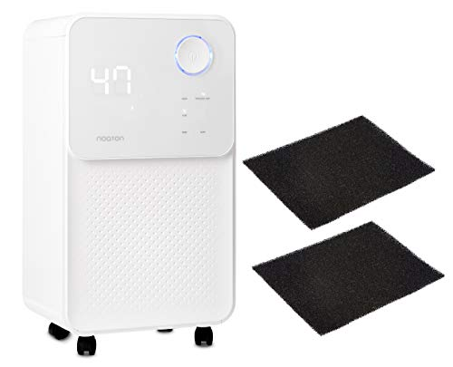 Luftentfeuchter und Luftreiniger Noaton DF 4114 + 2x Kohlefilter C2, max. 14,7 L/Tag, für Räume bis 25m²