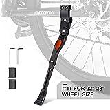 UHACKER Adjustable Bicycle Bike Kickstand Aluminum Rear Side Bicycle Stand for Bike 22' 24' 26' 28'