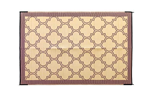 Camco Large Reversible Outdoor Patio Mat - Mold and Mildew...