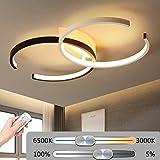 LED Plafonnier Anneau Dimmable Salon Lampe Luminaire 64W Moderne avec...