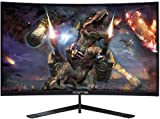 Sceptre 24-Inch Curved 144Hz Gaming LED Monitor Edge-Less AMD FreeSync DisplayPort HDMI, Machine Black (C248B-144RN)