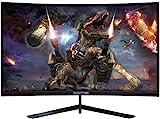 Sceptre 27' Curved 144Hz Gaming LED Monitor Edge-Less AMD FreeSync DisplayPort HDMI, Metal Black 2019 (C275B-144RN)