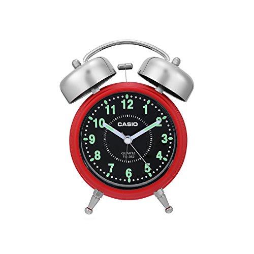 Casio Analog Table Clock (TQ-362-4ADF, Red)