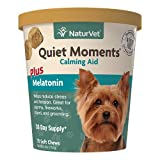 NaturVet Quiet Moments Calming Aid Dog Supplement – Helps Promote...