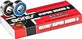 Bones Super Swiss 6 Skateboard Bearings 8 Pack