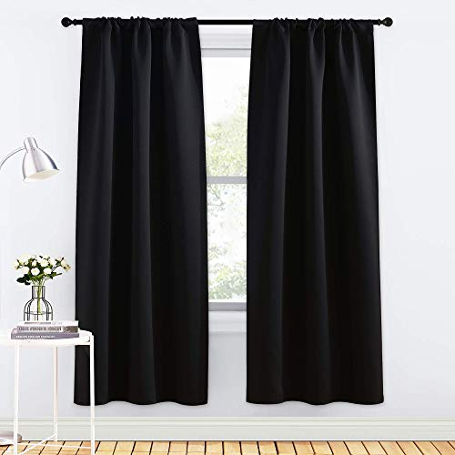 NICETOWN Black Out Curtain Panels for Kitchen - Energy Smart Decoration Thermal Insulating Blackout...