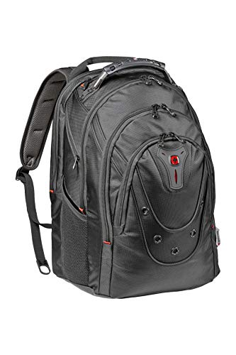 Wenger 605501 Ibex 17' Backpack Made from Ballistic Polyester in Black {26 litres}