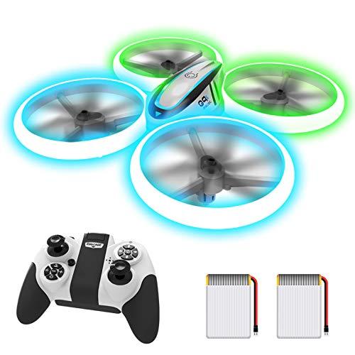 AVIALOGIC Q9s Drone per Bambini,Elicottero Telecomandato con Luci Blu & Verdi e Rotazione a 360,RC Droni Con Mantenimento Dell'altitudine e Modalit Senza Testa,Regalo Per Ragazzi e Ragazze