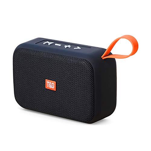 Bluetooth Lautsprecher 5.0,Wireless Tragbarer 360° Stereo Sound Mini Bluetooth Speaker mit USB, Unterstützung für TF/Aux/Micro-SD-Karte/FM,Kabelloser Lautsprecher für Indoor & Outdoor