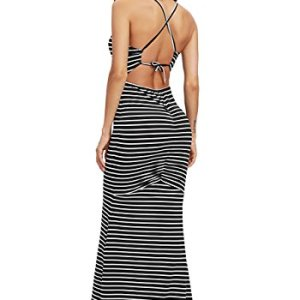 SheIn Women's Strappy Backless Summer Evening Party Maxi Dress 53