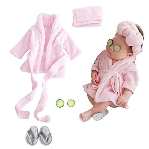 SPOKKI Newborn Photography Props Baby Girl 5 PCS Bathrobes Bath...