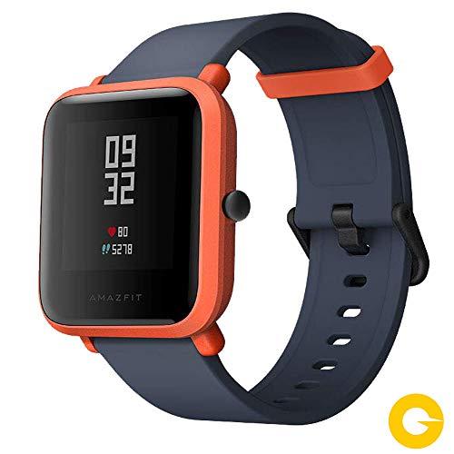 Amazfit Bip Smartwatch Monitor de Actividad Pulsómetro Ejercicio Fitness Reloj Deportivo (Versión Internacional) Red